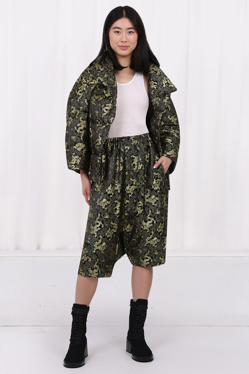 FLUID SPLIT SLEEVE BLOUSE ORANGE