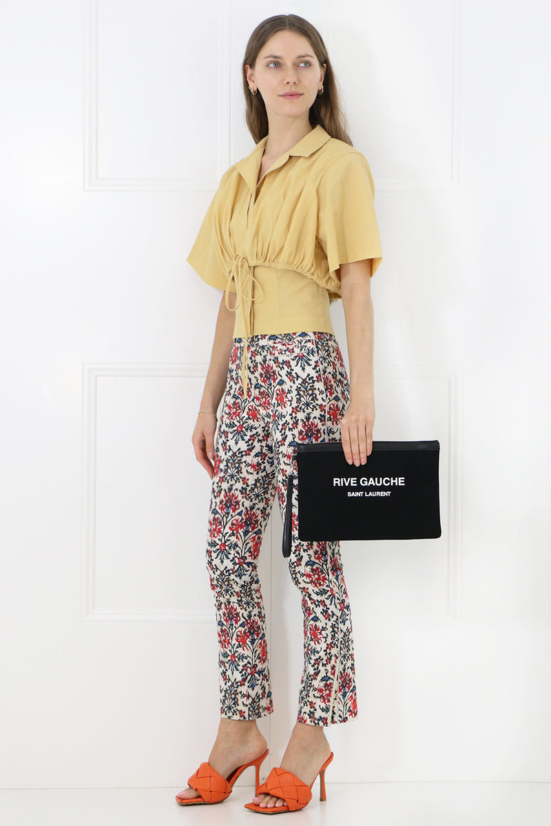 LOVIDA FLORAL PRINT PANTS RED