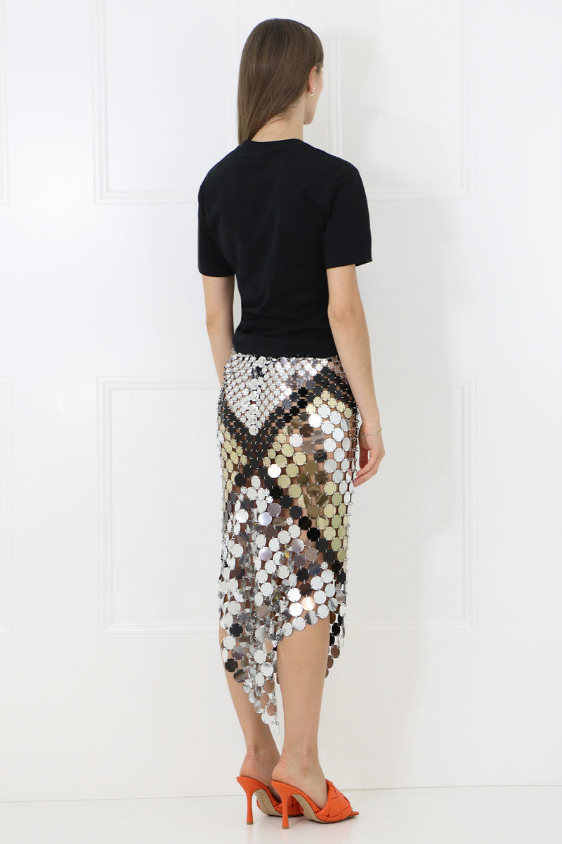 ICONIC DISC SKIRT BLACK/GOLD/SILVER
