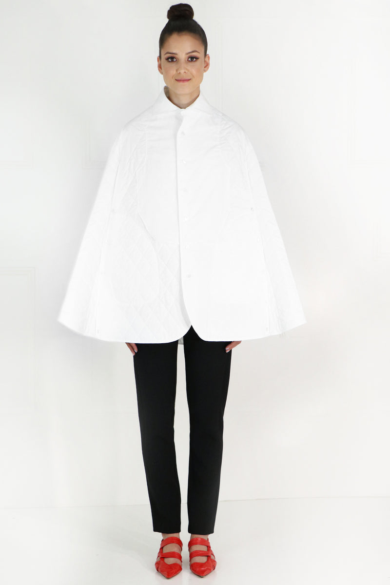 NOIR QUILTED COAT WHITE