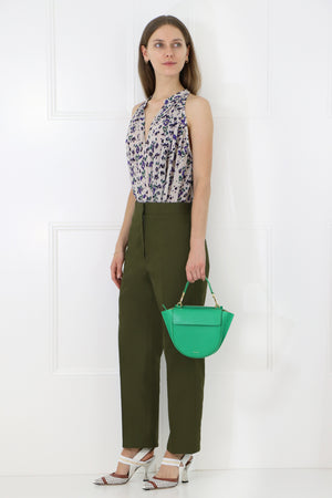 CROPPED STRAIGHT LEG PANTS FOREST