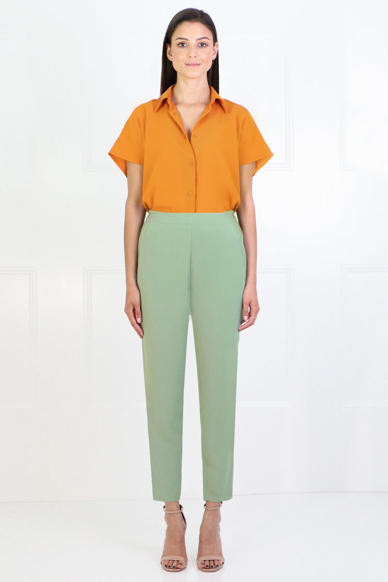 FLUID RELAXED SLIM LEG PANTS SAGE