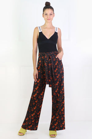 WENDY WIDE LEG PANTS NOIR BLOSSOM