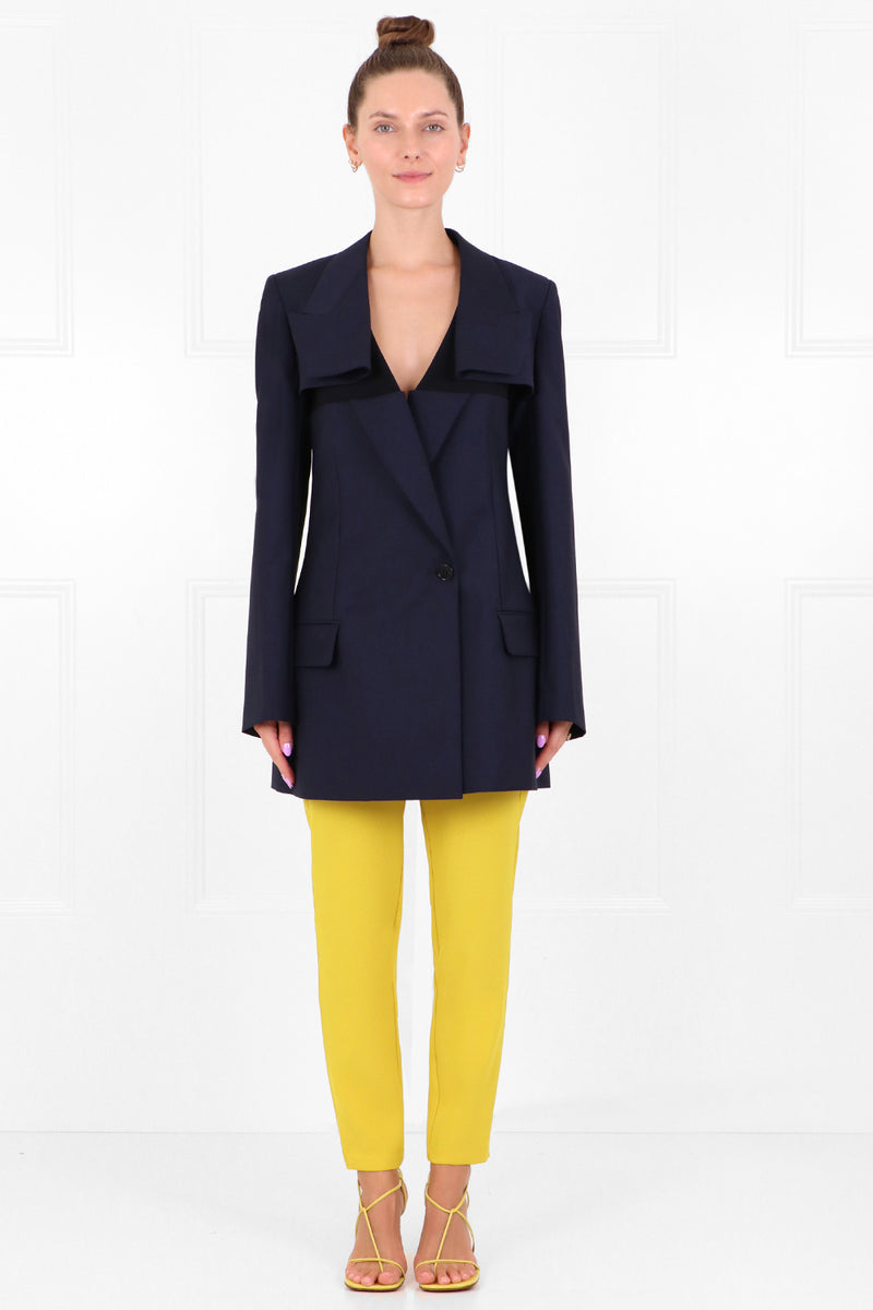 DECONSTRUCTED TAILORED BLAZER NAVY
