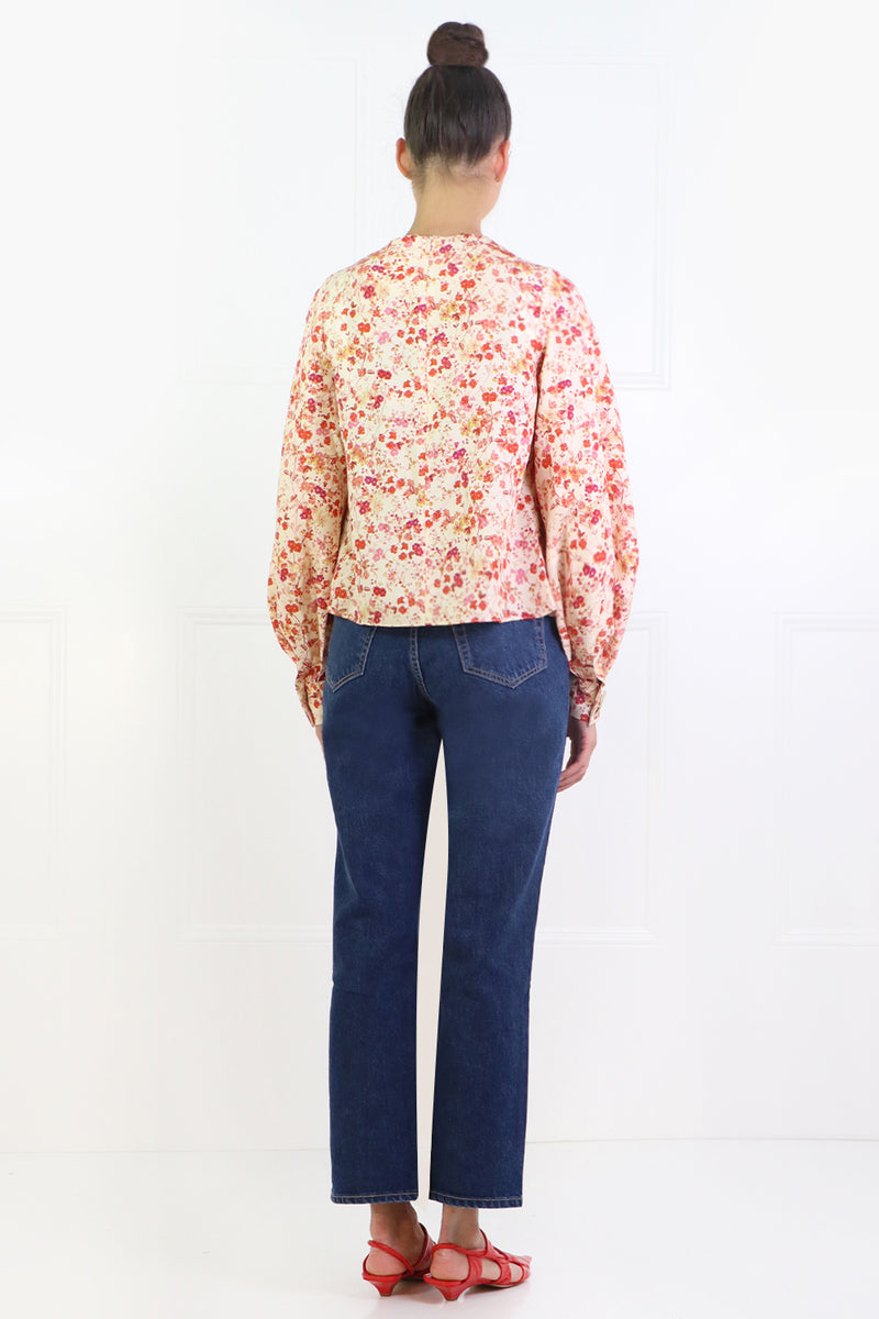 KAITLYN BLOUSE L/S SEPIA BLOSSOM