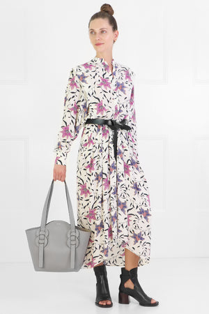 ETOILE OKLEY FLORAL PRINT DRESS L/S ECRU