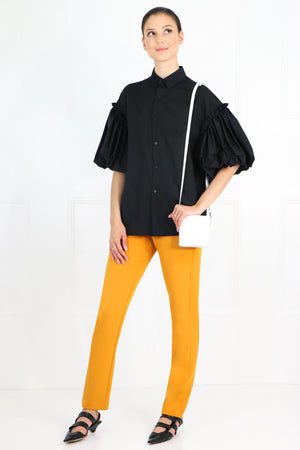 NOIR PUFF SLEEVE BLOUSE S/S BLACK
