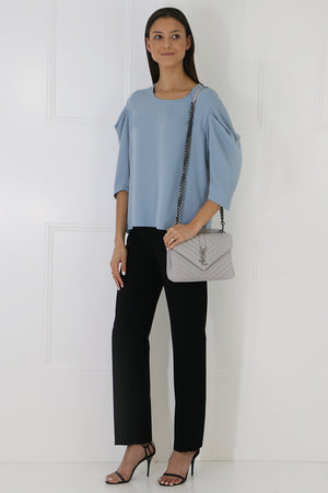 FLUID 3/4SL BLOUSE ICE BLUE