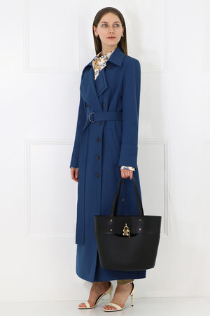 TAILORED DUSTER COAT DUSKY BLUE