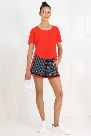 QUATRE SAISON SPORT SHORTS RED