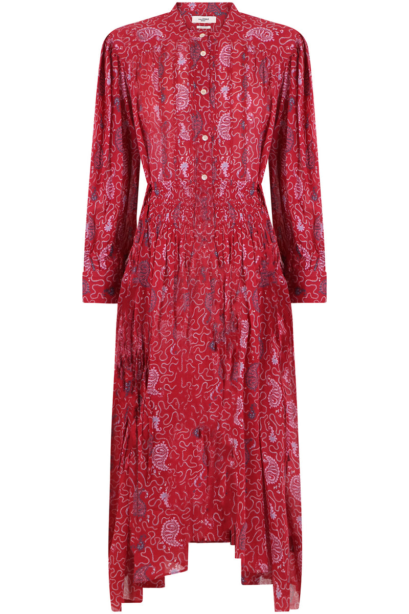 ETOILE ARIANA MIDI DRESS L/S RED