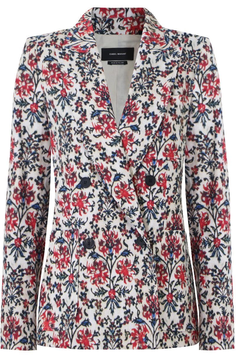LENALIA FLORAL PRINT JACKET RED