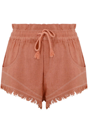 TALAPIZ MINI SHORTS PAPAYA