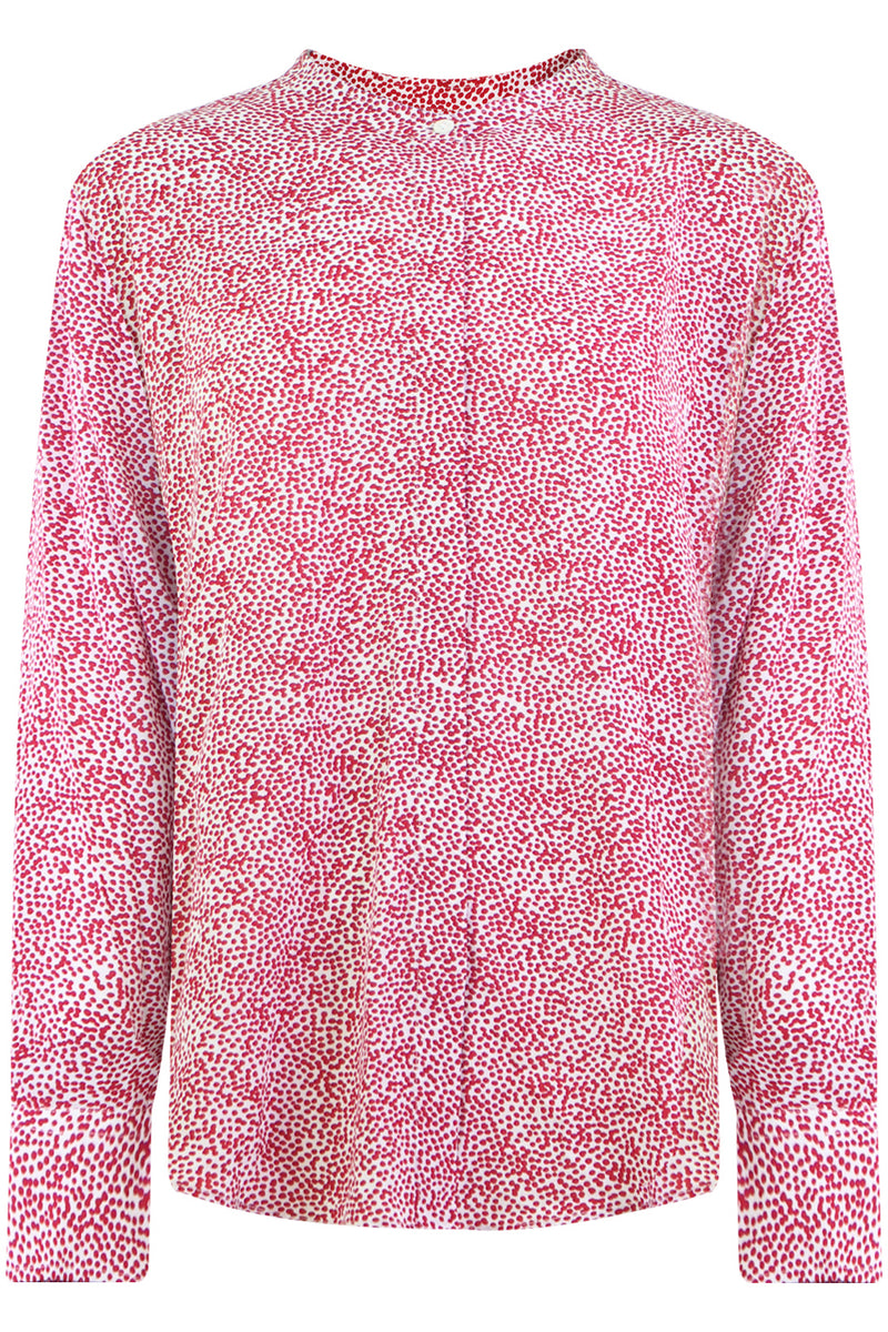 ETOILE CATCHELL PRINTED BLOUSE RED