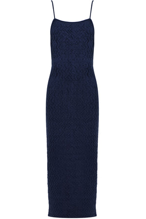 LA ROBE MAILLE VELOUR DRESS S/LESS NAVY
