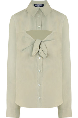 LA CHEMISE ALBI CUTOUT SHIRT LIGHT GREEN