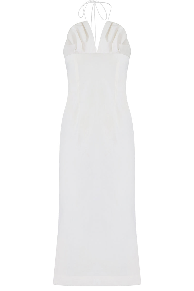 LA BAMBINO MIDI DRESS WHITE
