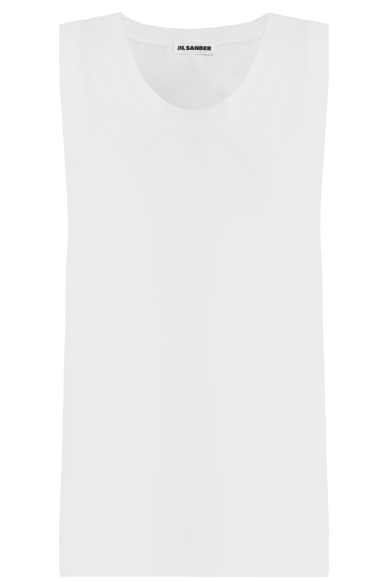 SCOOP NECK TANK TOP WHITE