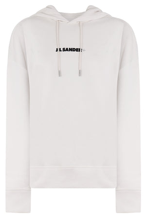 LOGO HOODED SWEATER NATURAL
