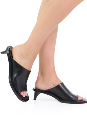 OPEN TOE MULE 45MM BLACK