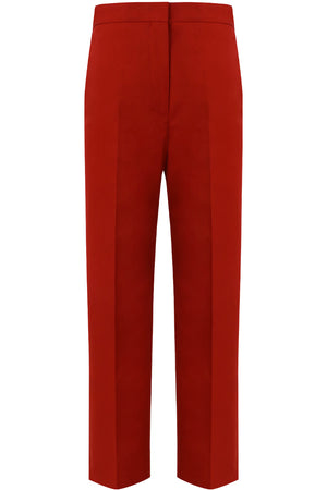 CROPPED SLIM LEG PANTS BRICK