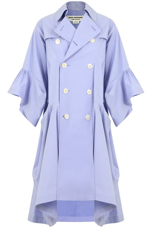 BELL SLEEVE COAT DRESS BLUE