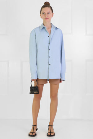 POINTED COLLAR SHIRT L/S COBALT