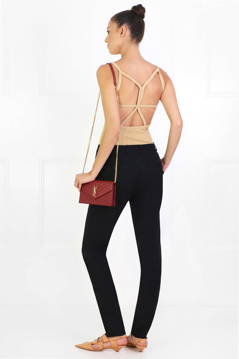 WIRE BACK RIB CAMI TAN