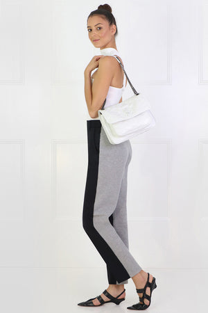 CONTRAST SUITING PANTS BLACK/GREY