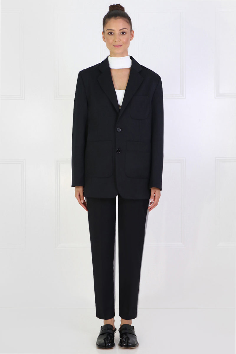 CONTRAST SUITING BLAZER BLACK/GREY