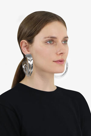 DECONSTRUCTED HOOP EARRINGS SILVER