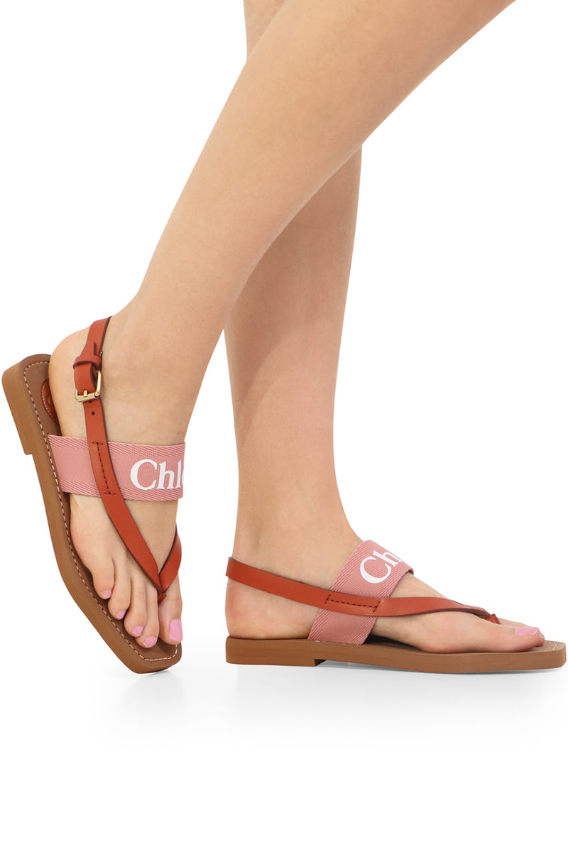 WOODY THONG SANDALS DELICATE PINK