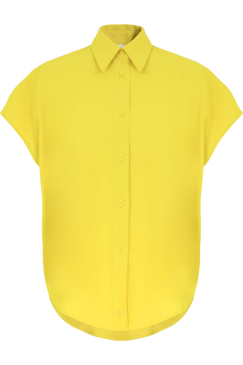 FLUID CIRCLE BLOUSE CAP/SL YELLOW