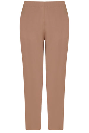 TISSUE NARROW CROP PANT NUTMEG