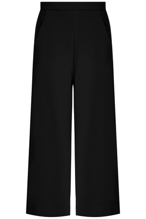TISSUE WIDE LEG CULOTTE BLACK