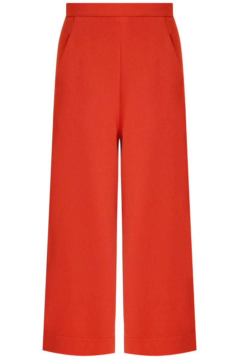 TISSUE WIDE LEG CULOTTE RED