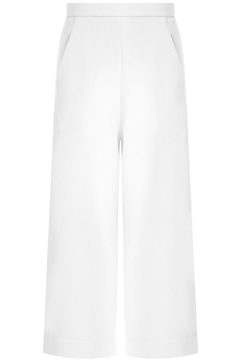 TISSUE WIDE LEG CULOTTE IVORY