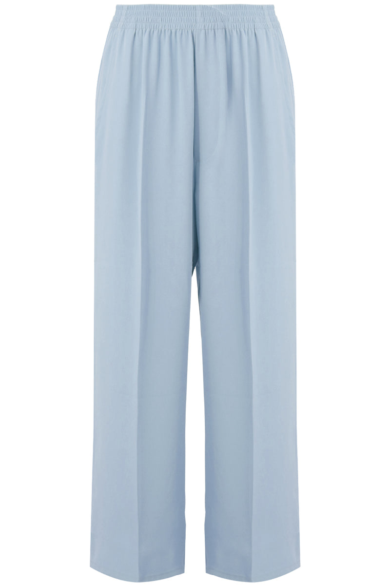 CROPPED WIDE LEG CULOTTES ICE BLUE