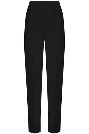 RELAXED SLIM LEG PANT BLACK