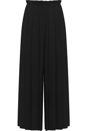 CROPPED PLEATED CULOTTES BLACK