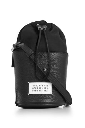 MINI CYLINDER BUCKET BAG BLACK