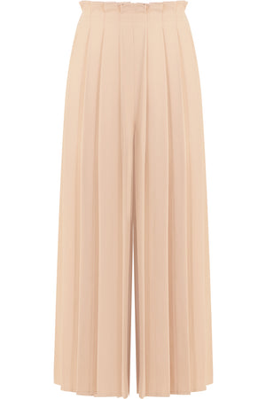 CROPPED PLEATED CULOTTES NUDE