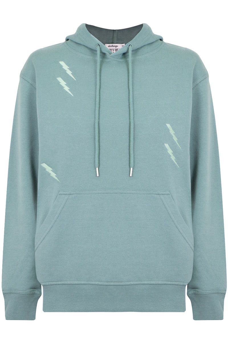 LIGHTNING BOLT HOODY PALE GREEN