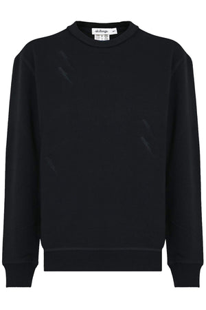 LIGHTNING BOLT CREW NECK SWEATER BLACK