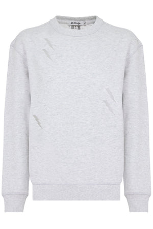 LIGHTNING BOLT CREW NECK SWEATER GREY