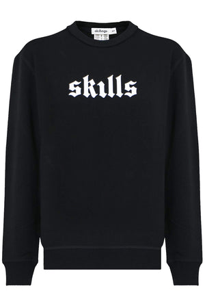 SKILLS CREW NECK SWEATER BLACK