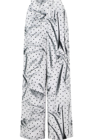 GRAPHIC PRINT POLKADOT PANT WHITE