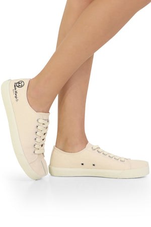 TABI CANVAS SNEAKER WHITE SAND