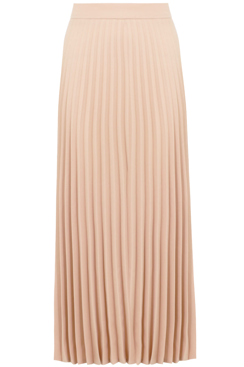 PLEATED MIDI SKIRT NUDE