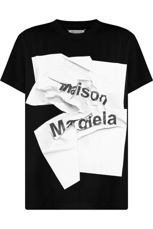 PAPER LOGO T-SHIRT BLACK